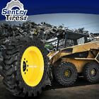 14x17.5 Solid Skid Steer Tires SET OF 4 WITH WHEELS 14-17.5 FOR CASE
