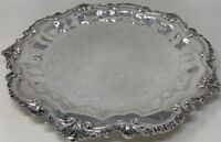 "Vintage 15"" Silverplate WALLACE ""Chippendale"" Footed Serving Tray X110 (19-91)"