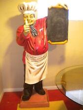 6' FAT CHEF STATUE PIZZA BAKER THUMB-UP W/ MENU BOARD RESTAURANT DECORATION!!!