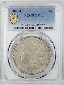 1893-O $1 Morgan Silver Dollar XF40 PCGS 42855293