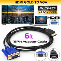 HDMI Cable 1.8 M HDMI To VGA 1080P HD With Audio Adapter Cable HDMI TO VGA Cable
