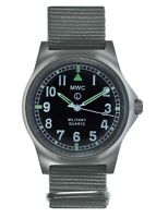 MWC G10LM Military Watch | 50m | No Date | Stainless Steel | Grey Strap