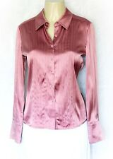 St John Dress Shirt Top Blouse Silk Button Down Pink 4 S Small Long Sleeve Work