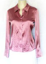 St John Dress Shirt Top Blouse Silk Button Down Pink 4 S Small Long Sleeve Work