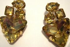 Earring Rhinestone Cluster Gold Dangle Drop Hypoallergenic Post Unique NWT L1035