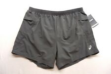 New Asics Mens #MS2813 Dark Gray Casual Athletic Distant Running Shorts Sz 2XL