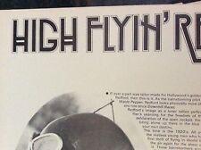 m9-9m ephemera 1970/s film article high flying robert redford waldo pepper