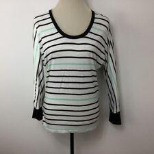 a.n.a Women Shirt Knit Tee Dolman 3/4 Sleeve Stripe Size S New