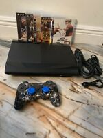 PlayStation 3 PS3 Super Slim 250GB With Controller& Games Complete (CECH-4201B)