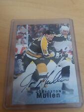 1995-96 Upper Deck Be a Player Autographs Autographed #S154 Joe Mullen Auto Card