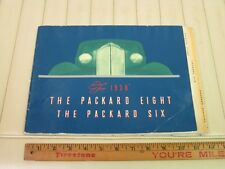 1938 PACKARD 6 & 8 Prestige Color Sales Brochure Green Cover First Edition