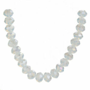 500Pcs 4mm Faceted bead Crystal Glass Rondelle Loose Spacer Beads Jewelry Making
