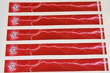 """0977 VINILE HD FRECCIA Wraps lt-700-red 0,75 """"WIDE 7"""" LONG (confezione da 12)"""