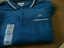 NWT Lacoste Baltimore Blue Long Sleeve Polo Shirt Size XXL MSRP $110