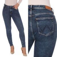 Wrangler Damen Jeanshose Body Bespoke Skinny Blau (Ink Sky) W25 - W31