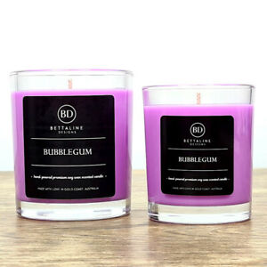 Bubblegum - 100% Soy Wax Scented Glass Candles