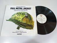 """Full Metal Jacket Soundtrack Deutsch Edition 1987 Wea - LP Vinyl 12 """" VG/VG"""
