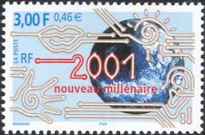 France 2000 Millennium/New Year/Greeting/Globe/Communications 1v (n46079)