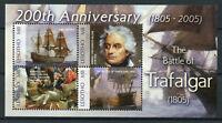Lesotho 2005 MNH Battle of Trafalgar 200th 4v M/S Horatio Nelson Ships Stamps