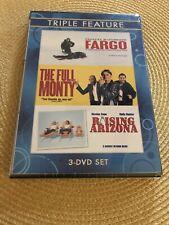 Triple Feature (Fargo / The Full Monty / Raising Arizona) Dvd Brand New / Sealed