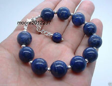 Beautiful handmade the Tibet silver blue lapis lazuli bracelet 7.5 ~ 8 inches