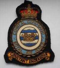 post war bullion   RAF  coastal command  flight suit  squadron  patch