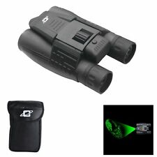 Cassini 12x32mm Day/Night Green Laser Roof Prism Binocular and Case,: K-9MKIII