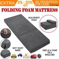 Folding Foam Mattress Portable Sofa Bed Foldable Mat Floor Lounge Recliner Chair