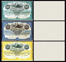 Facsimil Lote Banco Español de la Habana 1869 Cárdenas - Reproduction