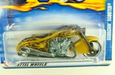 Hot Wheels 2002 Gold Scorchin Scooter Motorcycle  #197 Combine Ship