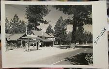 c1940s Cluster PInes Resort Big Bear Lake California real photo postcard view
