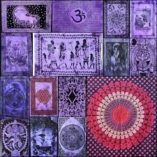 Indidn Cotton Fabric Wall Hanging Small Poster Purple Color Wonderful Tapestry