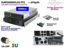 693g4k~APC Online SmartUPS Gen2 6kva UPS 208/240+120v SURT6KRMXL3U-TF5 #NewBatts