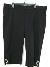 Women's Pants Alfani Black Crop Skinny Leg Regular  Plus Size 20W NEW  $70