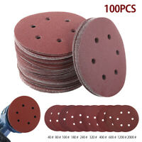 "100pc 150mm 6"" Sanding Discs Pads 40-2000 Grits Orbital Hook Loop Mix Sandpaper"