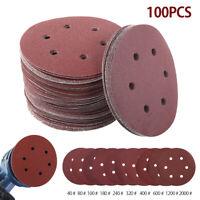 """100pcs 150mm Sanding Discs Self Adhesive 6"""" Pads 40-2000 Grits Orbital Hook Loop"""