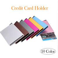 Aluminum Pocket Business Credit Debit Card Case Metal Box Holder Wallet