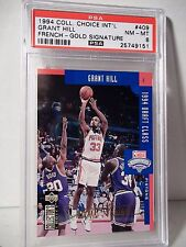 1994 Collector's Choice French Gold Grant Hill PSA NM-MT 8 Basketball Card #409