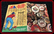 1991 MINNESOTA TWINS SUPERAMERICA BASEBALL POCKET SCHEDULE NMMT CONDITION