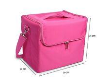 Glow Professional Fabric Finish Make Up Beauty Cosmetic Case Pink
