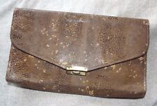 "Vintage 1930s/1940s ""Marvalue"" snakeskin/lizard reptile effect clutch bag purse"