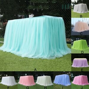 Table Skirt Multi Colors Table Cloth Home Textile Tablecloth Wedding Party Decor