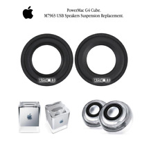 2 x Apple PowerMac G4 Cube M7963 USB Speakers suspension surround replacement