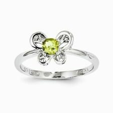 Sterling Silver Peridot Ring - Size 8