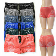 6 Pairs Jean Boy Short Panties Hot Shorts Lot -- One Size Fits Most