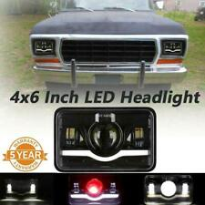 "DOT 4x6""Inch LED Halo Rectangle Headlight Hi/Lo Beam w/ DRL for Chevy Chevrolet"