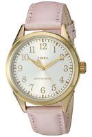 Timex Women's Briarwood Terrace Pink Leather Dress Watch TW2P99100