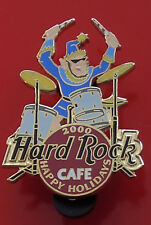 Hard Rock Cafe Metal Pin Badge 2000 Happy Holidays Festive Drums Drummer Drum