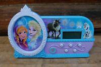 "DISNEY Elsa Anna Musical ALARM CLOCK w/ Glow Nite Light Plays ""Let It Go"""