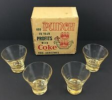 50s Coca-Cola Add Punch To Your Profits With Coke This Christmas Box 4 Glasses